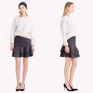 Gray J.Crew Pleated Skirt